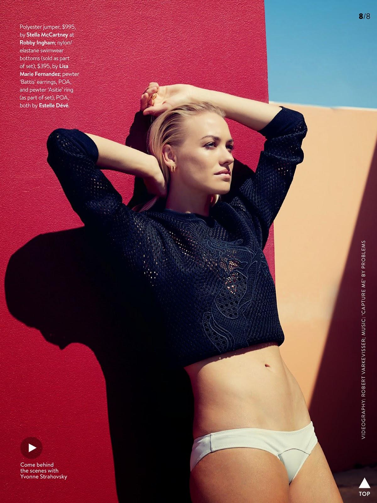 Fashion Dexter Alum Yvonne Strahovski Poses For Gq Australia The Urban Alternative